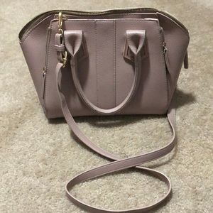 Madison West Mauve Formed Crossbody Purse